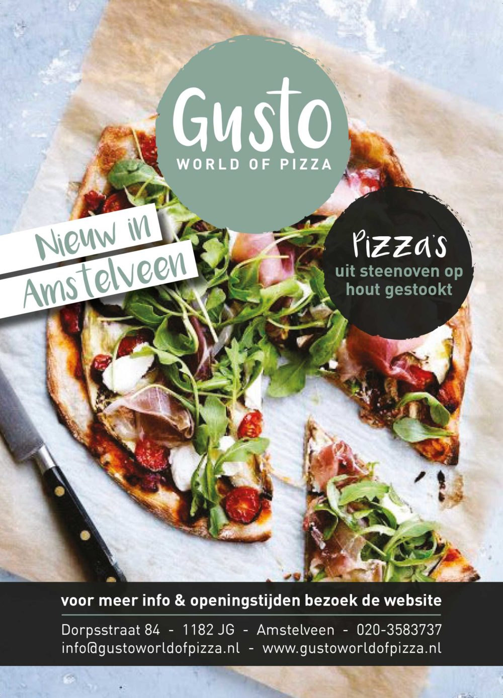Gusto World of Pizza flyer