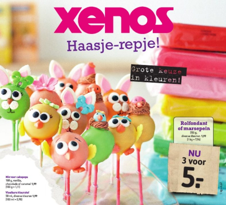 Xenos paas folder, kleurrijk