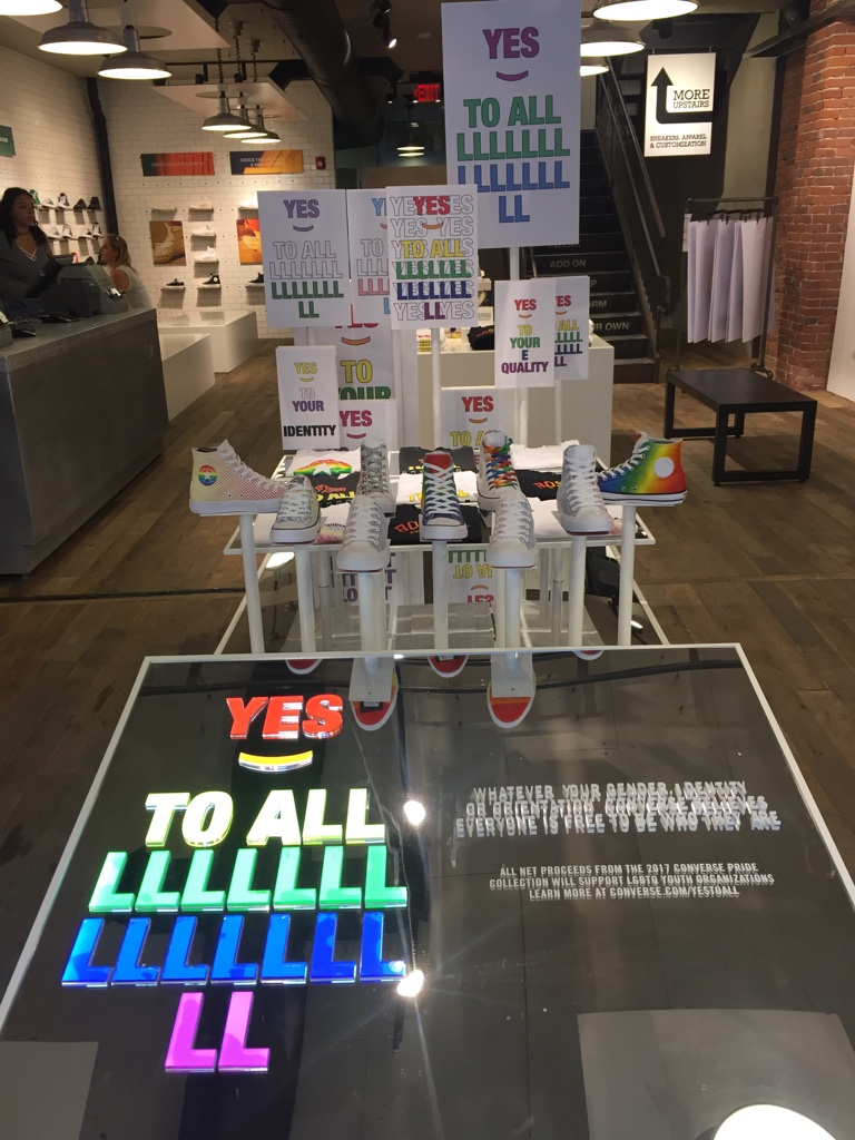 Retail Presentation, Pride x Converse retail inspiration, Boston