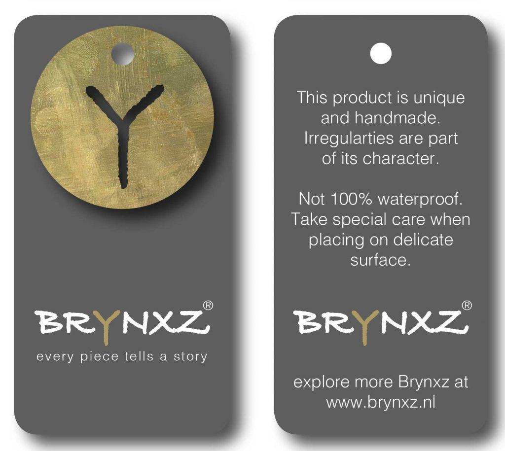 Brynxz label hangtag