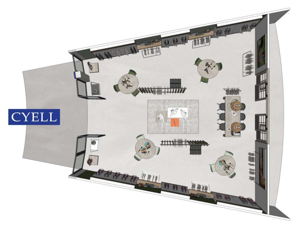 Cyell showroom plattegrond