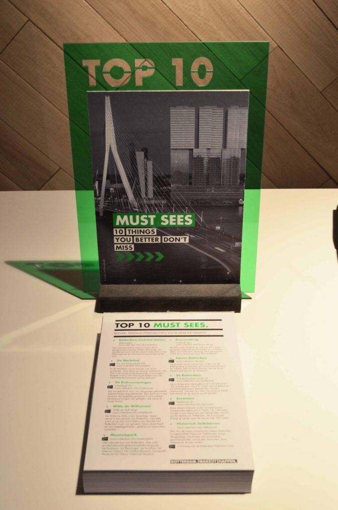 Rotterdam Tourist communication design, top 10 must sees
