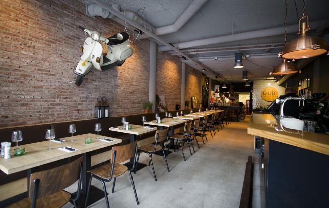 Interieur Restaurant Gusto, World of Pizza