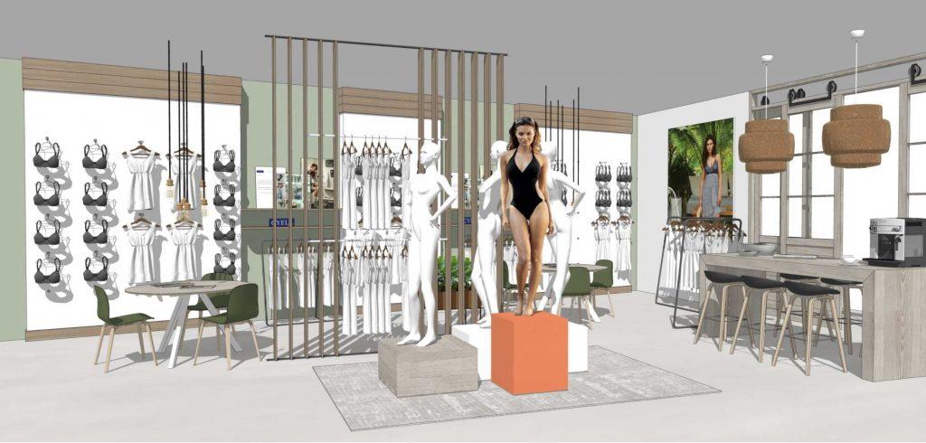 Cyell showroom, 3D tekening
