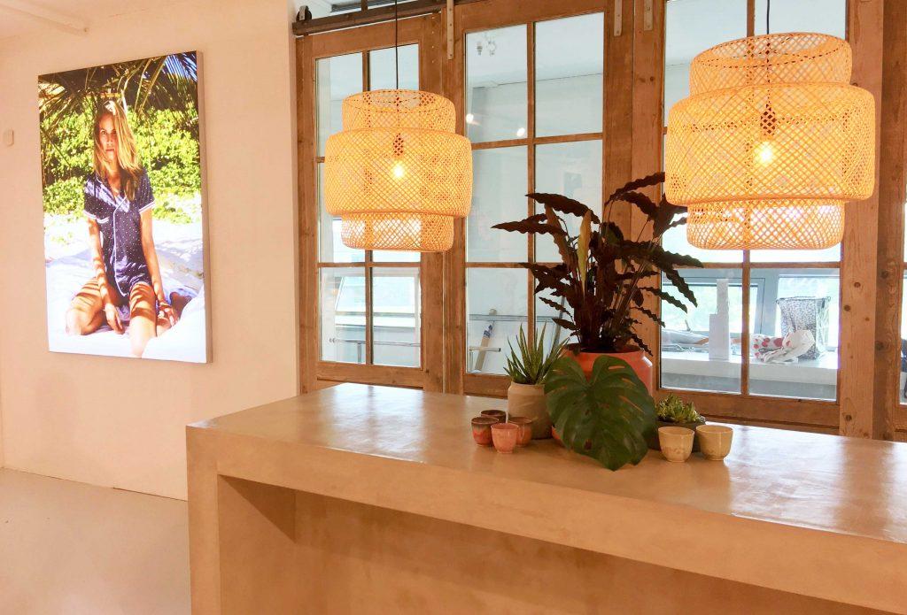 Cyell showroom, balie, blow-up visual, showroom design Cyell, BIEN innovation