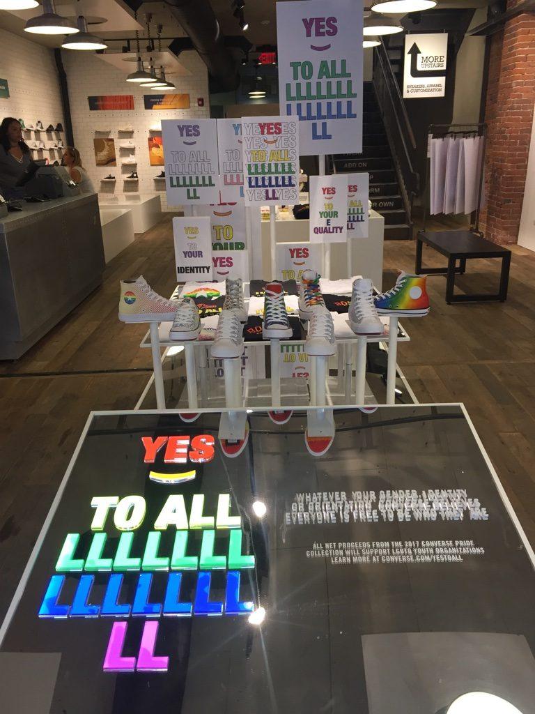 Retail Presentation, Pride x Converse retail inspiration, Boston