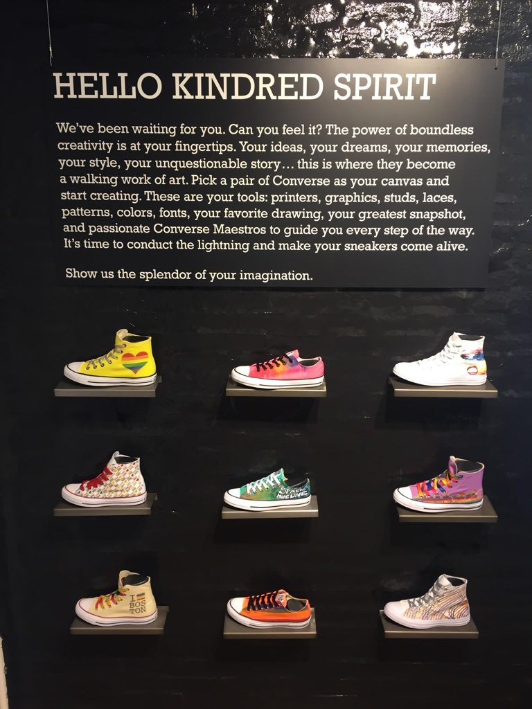 Customized, Converse retail inspiration, Boston