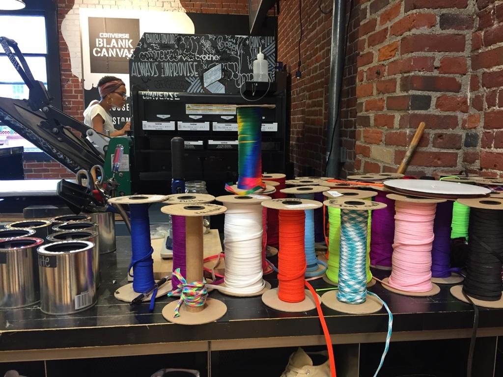 Coloured laces, Converse retail inspiration, Boston